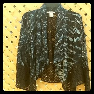 Mesh and lace cardigan